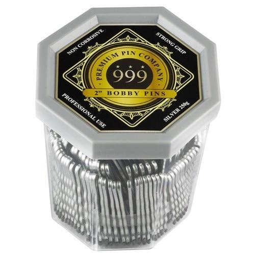 "999 Premium Bobby Pins 2"" Silver 250g"