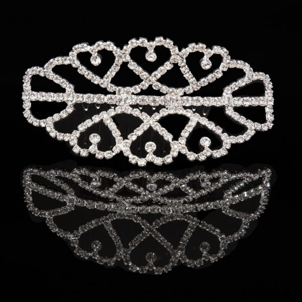 Mad Ally Medium Double Tiara Silver