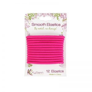 KySienn Smooth Hair Ties 12 Pack Pink