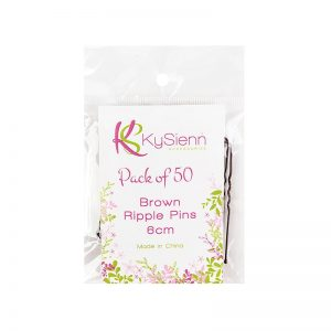 KySienn Ripple Pins 6cm 50 Pack Brown