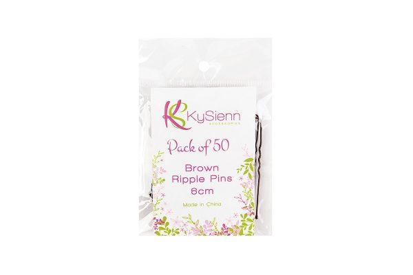 KySienn Ripple Pins 6cm 50 Pack Brown