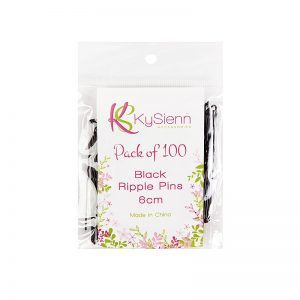 KySienn Ripple Pins 6cm -100 Pack Black
