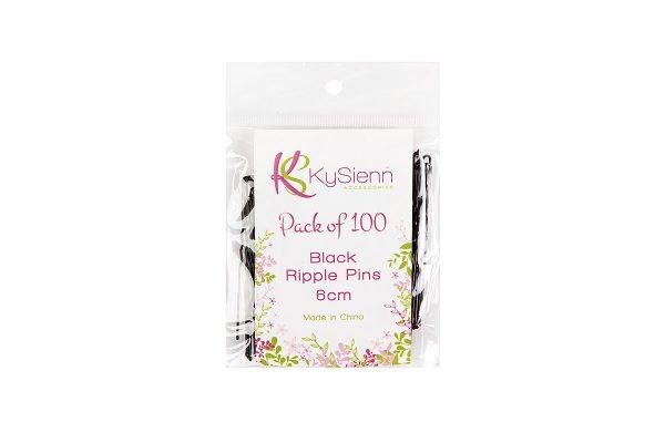 KySienn Ripple Pins 6cm -100 Pack Black