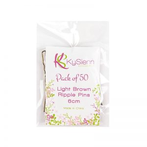 KySienn Ripple Pins 6cm - 50 Pack   Light Brown