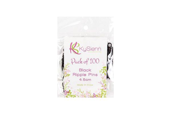 KySienn Ripple Pins 4.5cm 100 Pack Black