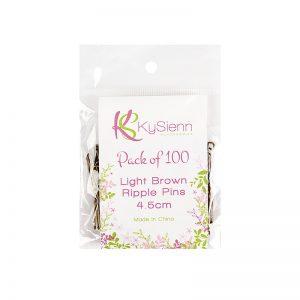 KySienn Ripple Pins 4.5 cm 100 Pack Light Brown