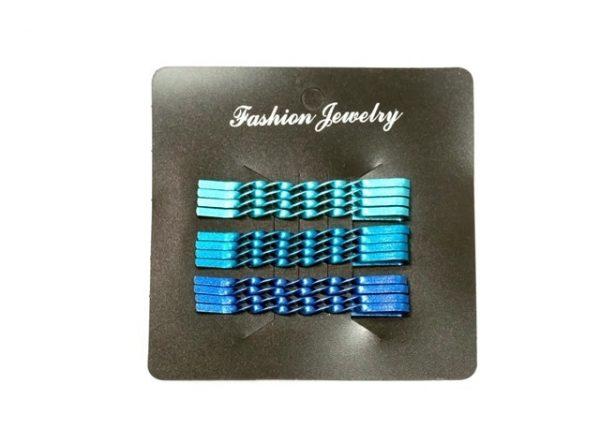 12PCS 5CM  BLUE BOBBY PIN