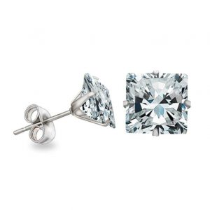 KySienn Diamante Square Earrings 8mm