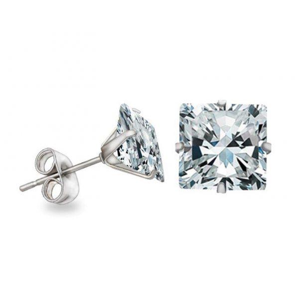 KySienn Diamante Square Earrings 8mm