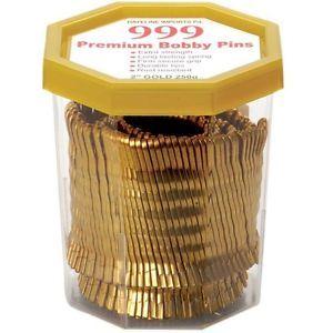 "999 Premium Bobby Pins 2"" Gold 250g"