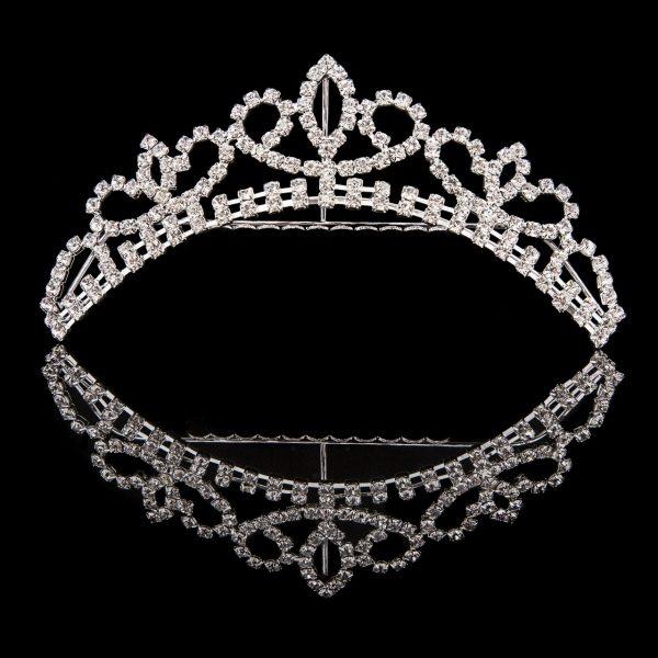 Mad Ally Medium Crystal Tiara Silver