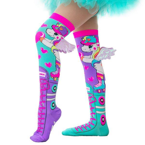Mad Mia Skatercorn Socks with Wings