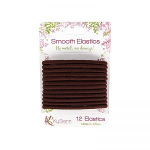 KySienn Smooth Hair Ties 12 Pack Brown