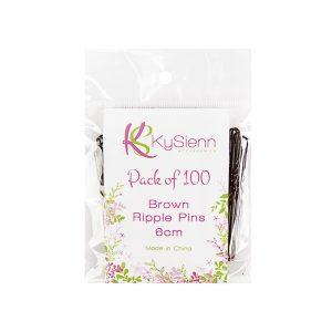 KySienn  Ripple Pins 6cm -100 Pack Brown