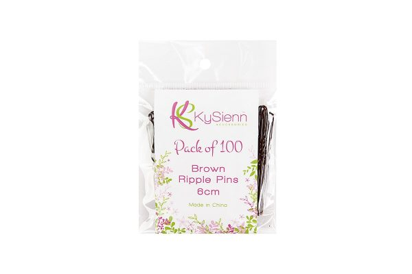 KySienn  Ripple Pins 6cm -100 Pack Brown