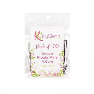 KySienn Ripple Pins 4.5cm 100 Pack Brown