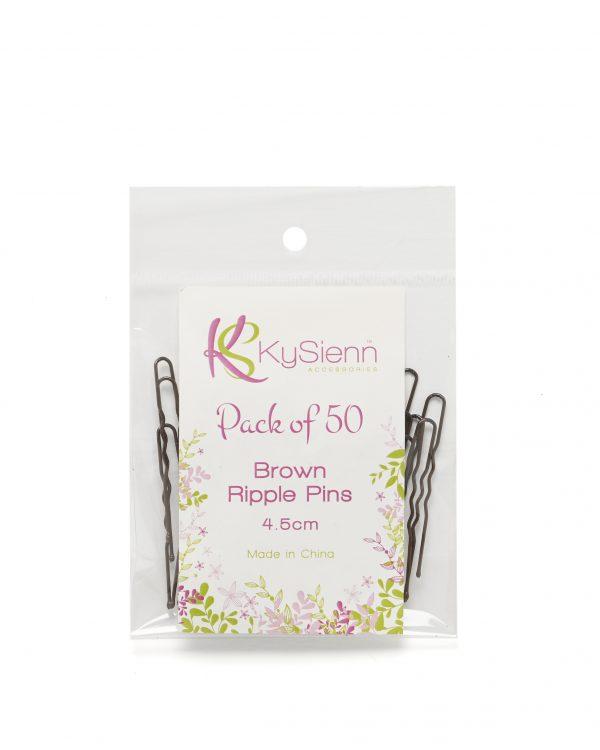 KySienn Ripple Pins 4.5cm 50 Pack Brown