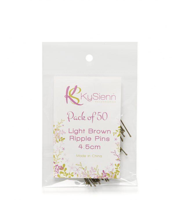 KySienn Ripple Pins 4.5cm 50 Pack Light Brown