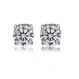 KySienn Magnetic Diamante Round Earrings 8mm