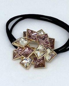 KySienn Rhinestone Crystal and Amethyst Cuff