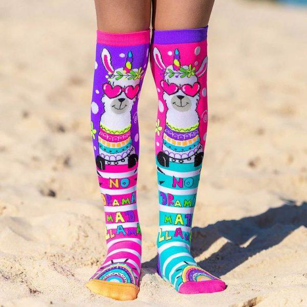 Mad Mia Llama Drama Socks